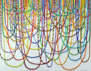 Ann-Marie Gillett exhibits drawings made of tape at the BankRI Turks Head Gallery September 1 through October 5, 2016. There will be a Gallery Night reception September 15 from 5 to 8:30 pm.