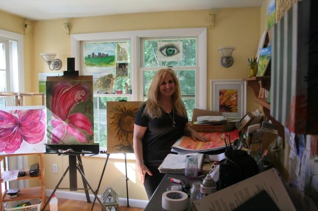 Patricia Almonte in her studio