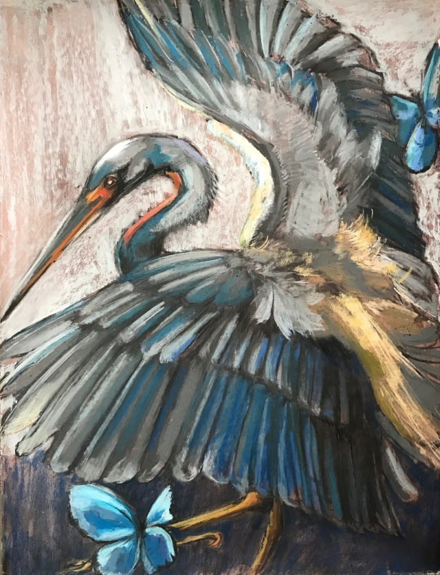 Holly Wach exhibits pastels and watercolors at the BankRI Turks Head Gallery March 1 through April 5, 2017. There will eb a Gallery Night reception on Thursday March 16 from 5 to 8:30 pm. Light refreshments will be served and Mark Armstrong will play guitar.