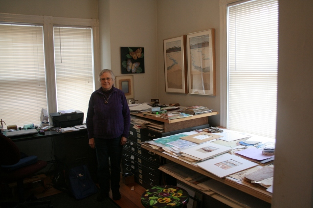 Wendy ingram in her studio
