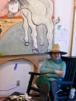 Gallery Night Providence Celebrity Guide, Madolin Maxey in her Providence Studio