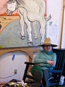 Madolin Maxey in her Providence studio